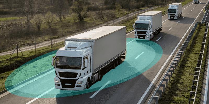 formation platooning : camions autonomes